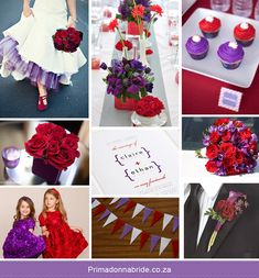 purple and red themed wedding. If done correctly I kinda love this