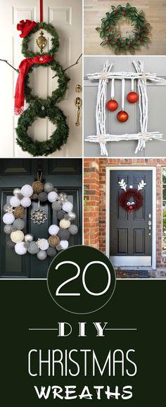 20 Festive DIY Christmas Wreath Ideas