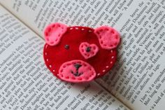 DIY Valentine Pup Hair Clip with Free Silhouette Cut File www.Pitterandglink.blogspot.com - turn this into a headband