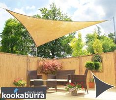 Kookaburra 5m Triangle Sand Knitted Breathable Shade Sail (Knitted)