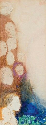 Onze personnages, Odilon Redon. (1840 - 1916)  (Inspiração: Lugar Nenhum se enchendo de cores - presenças reveladas)