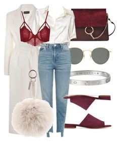"""""""#Look:#371"""" by dollarwomanlux ❤ liked on Polyvore featuring Joseph, Chloé, Cartier, Ray-Ban, Mansur Gavriel, Brandy Melville, Topshop and Fendi"""