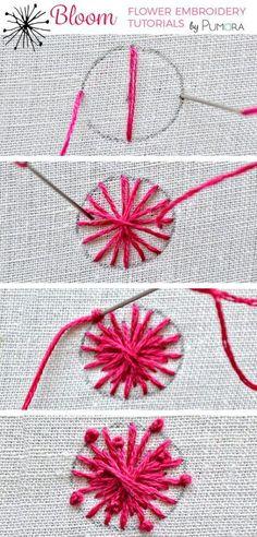 umbel flower embroid