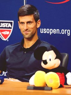 Novak Djokovic and a Friend | Media Day at the US Open 2015