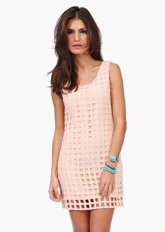 A crochet overlayed dress!