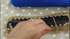 TUTORIAL: astuccio uncinetto con zip by lafatatuttofare-Materiali www.te...