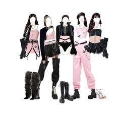 Kpop Fashion Outfits, Stage Outfits, Korean Outfits, Retro Outfits, Dance Outfits, Cute Casual Outfits, Girl Outfits, Korean Girl Fashion, Korean Street Fashion