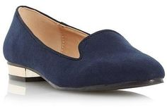 Womens bright navy flats from Dune - £29 at ClothingByColour.com