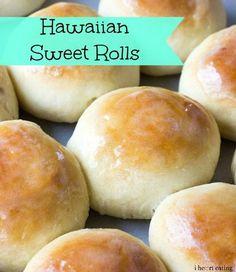 Hawaiian Sweet Rolls I Love Food, Good Food, Yummy Food, Bread Recipes, Baking Recipes, Chef Recipes, Fall Recipes, Yummy Recipes, Sweet Roll Recipe