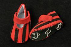 Felt shoes handmade soccer club A.C. Milan