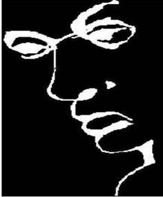 un portrait et les lettres de  LIAR qui veut dire menteur en anglais