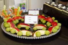 cars made out of apples and grapes
