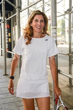 Professional tennis player Monica Seles enters the Good Day New York. Tennis Rules, Sport Tennis, Play Tennis, Monica Seles, Tennis Photos, Tennis Party, Tennis Accessories, Professional Tennis Players, Tennis Players Female