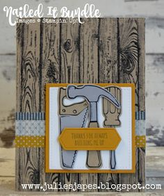 Julie Kettlewell - Stampin Up UK Independent Demonstrator - Order products 24/7: Nailed It Bundle