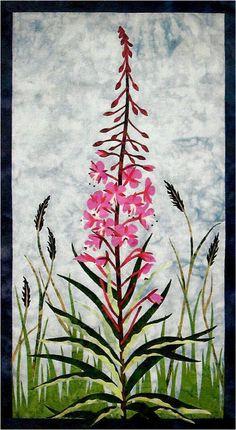 Fireweed Wildflower Wildfire Designs Alaska Wallhanging Quilt Pattern #WildfireDesignsAlaska