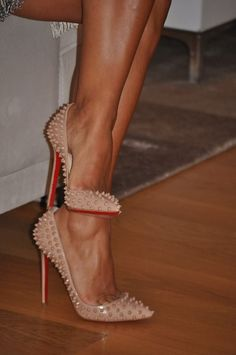 Studded heals, now if only wearing them would make my legs look like that, well, we'd be in business wouldn't we!                                                                                                                                                      More