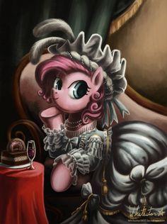 Let Them Eat Cake by *Whitestar1802 on deviantART  My little pony Marie Antoinette! xD