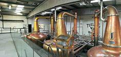 Les trois alambiques de la distillerie Teeling à Dublin