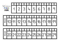 Recta numèrica fins a 29 i fins a Idees i jocs per treballar-la. Numbers 1 10, Autism Activities, Primary Maths, Math For Kids, Communication Skills, Mathematics, Teaching, Tobias, Walkway