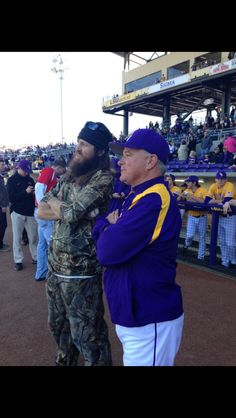 Jase Robertson with LSU coach