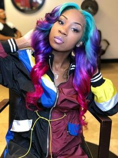 we have bundles, closure, frontal and wigs in stock. we have brazilian hair and peruvian hair. Frontal Hairstyles, Weave Hairstyles, Prom Hairstyles, Black Girls Hairstyles, Pretty Hairstyles, Hairstyle Ideas, Hair Colorful, Curly Hair Styles, Natural Hair Styles