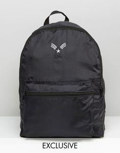 Reclaimed+Vintage+Lightweight+Chevron+Backpack+Black