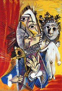 Pablo Picasso - Mousquetaire à l'Epée et Amour IV, 1969