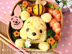 Bento Singapore by Shirley 楽しくてお弁当とキャラベン: プーさんのキャラ弁 Winnie the Pooh Bento