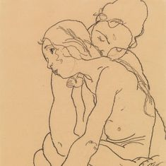 """""""Two Women Embracing"""" by Charcoal on Paper x cm Egon Schiele Drawings, The Embrace, Art History, Charcoal, Illustration Art, Paper, Instagram Posts, Artwork, Women"""