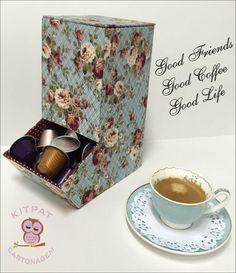 Kit de cartonagem projetada a venda pela #kitpatcartonagem #portacapsula #nespresso #dolcegusto #projetoparaTv #vidacomarte