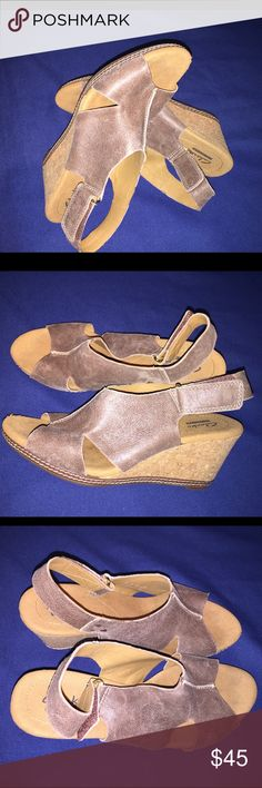 Clarks size 9 Just like new Clarks Shoes Wedges