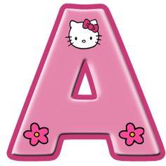 Alfabeto de Hello Kitty con letras grandes. - Oh my Alfabetos!
