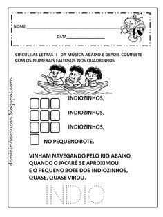 atividades sobre educação infantil e fundamental Character Design, Politics, Terra, Math Activities, Literacy Activities, Kid Activities, Letter I, Index Cards, Classroom