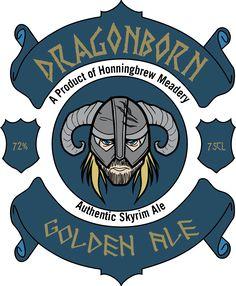 Dragonborn Craft Beer Label