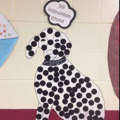 100 days of school ideas make a Dalmatian or cheetah.