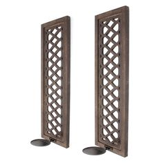 Teton Home Candle Wall Sconces - Set of 2 - WD-080