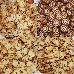 4 slags Specier: chokoladespecier, orangechokoladespecier, maricpan/nouget-specier og chokoladesnegle-specier