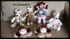 Bonecos, bonecas e ursinhos