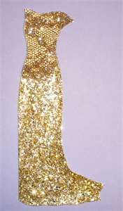 gold glitter gown