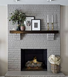 10 Extraordinary Ideas of Living Room with Fireplace Living Room Remodel Painted Brick Fireplaces, Paint Fireplace, Brick Fireplace Makeover, Home Fireplace, Living Room With Fireplace, Fireplace Design, Living Room Decor, Fireplace Ideas, Living Rooms
