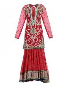 Red Silk Lengha with Zardozi Embroidery #ExclusivelyEOSS