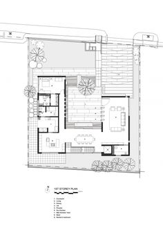house with courtyard - Plan