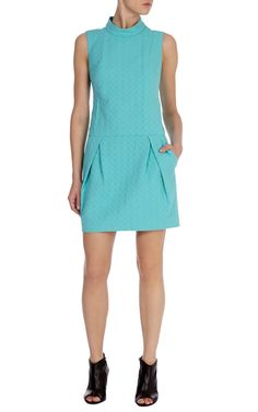 Drop waist cotton shift dress | Karen Millen