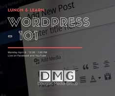 Interested in learning more about @wordpressdotcom? Join our Lunch & Learn on Monday! We'll be live streaming on Facebook and YouTube giving a basic training of the most popular CMS in the world. . . . #smallbiz #smallbusiness #wordpress #website #websitedesign #business #consulting #livestream #lunchandlearn #rdu #raleigh #durham #wendell #knightdale #garner #clayton #hollysprings #zebulon @garnerchamber Holly Springs, Durham, Business Tips, Wordpress, Join, Training, Lunch, Ads, Popular