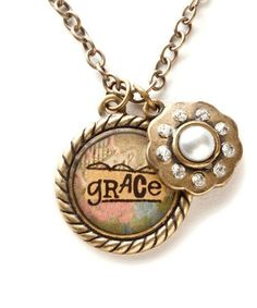 Take a look at this Gold 'Grace' Pendant Necklace by Kelly Rae Roberts on #zulily today!