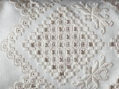 Working Hardanger Embroidery by Machine