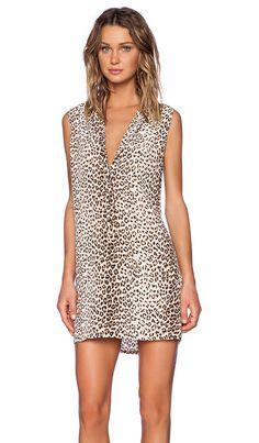 Equipment Lucida Sleeveless Leopard Print Dress in Natural Multi | REVOLVE