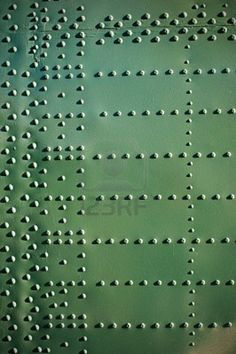 Old aircraft plating texture with rivets.