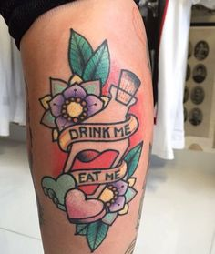 drink me eat me tattoo - Google Search