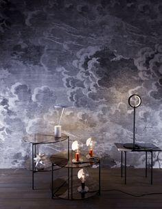 Fornasetti II Nuvolette wallpaper by Cole & Son #designer #wallpaper #nuvolette Interior: martinalucatelli.com
